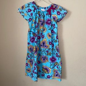 Hanna Andersson Floral Cotton Dress Girls Size 8